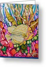 Rainbow-colored Sunfish Greeting Card