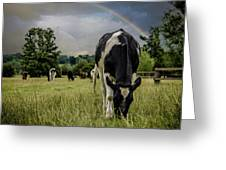 Rainbow Cow Greeting Card