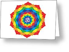 Rainbow - Crown Chakra  Greeting Card