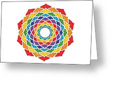 Rainbow - Crown Chakra - Pointillism Greeting Card by David Weingaertner