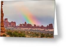 Rainbow Down Greeting Card