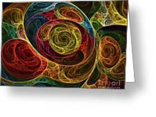 Rainbow Egg Formation Abstract Greeting Card