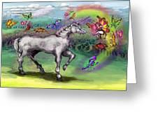 Rainbow Faeries And Unicorn Greeting Card