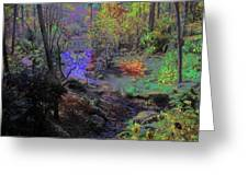 Rainbow Fairies Sweep Across The Landscape Greeting Card