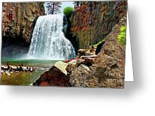 Rainbow Falls 4 Greeting Card