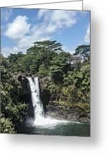 Rainbow Falls Hawaii Greeting Card