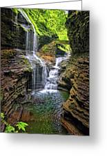 Rainbow Falls In Watkins Glen Greeting Card