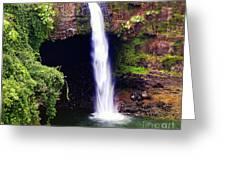 Rainbow Falls Iv Greeting Card