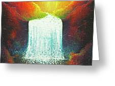 Rainbow Falls Greeting Card by Jaison Cianelli