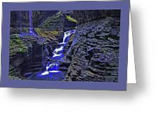 Rainbow Falls Watkins Glen State Park Greeting Card
