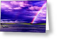 Rainbow Ferry Greeting Card