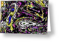 Rainbow Flurry Art Greeting Card