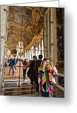Rainbow Girl In The Hall Of Mirrors Greeting Card