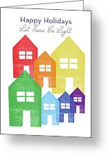Rainbow Holiday- Art By Linda Woods Greeting Card