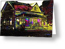 Rainbow House Greeting Card