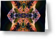 Rainbow Hydranga Abstraction Greeting Card by Claude McCoy