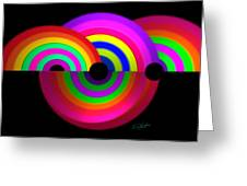 Rainbow In 3d Greeting Card