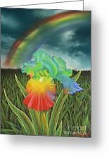Rainbow Iris Greeting Card