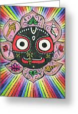 Rainbow Jagannath Greeting Card