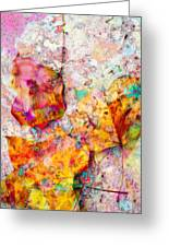 Rainbow Abstract Leaves Greeting Card