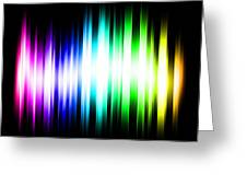 Rainbow Light Rays Greeting Card by Michael Tompsett