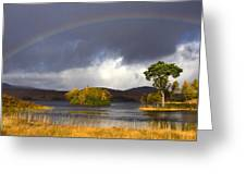 Rainbow Loch Tulla Greeting Card