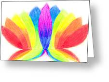 Rainbow Lotus Greeting Card
