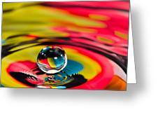Rainbow Marble Water Drop Greeting Card