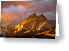 Rainbow Mountain In The Storm Greeting Card