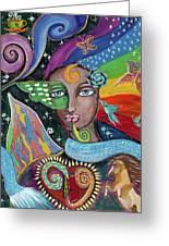 Rainbow Muse Greeting Card