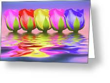 Rainbow Of Roses II Greeting Card