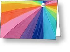 Rainbow On The Beach Greeting Card