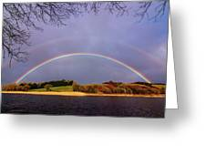 Rainbow On The Double Greeting Card