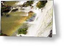 Rainbow On The Falls Greeting Card