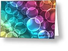 Rainbow Orbs Greeting Card