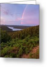 Rainbow Over Broken Bow Lake Greeting Card