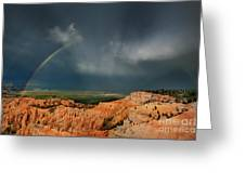 Rainbow Over Hoodoos Bryce Canyon National Park Utah Greeting Card