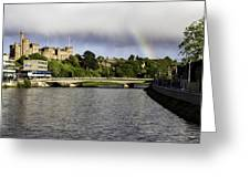 Rainbow Over Inverness Greeting Card