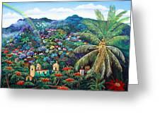 Rainbow Over Matagalpa Greeting Card