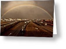 Rainbow Over Moose Jaw Saskatchewan Greeting Card