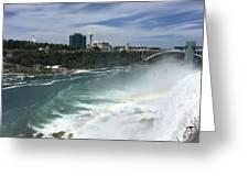 Rainbow Over Niagra Falls Greeting Card