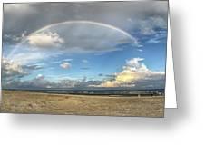 Rainbow Over Ocean Greeting Card