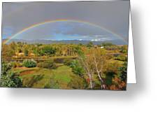 Rainbow Over The Araknsas Greeting Card