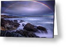 Rainbow Over The Biddeford Pool Greeting Card