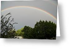 Rainbow Over The Trees Greeting Card