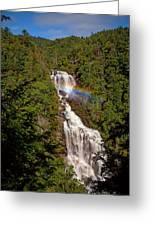 Rainbow Over Whitewater Falls Greeting Card