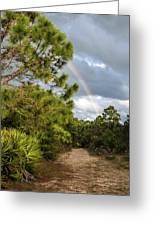 Rainbow Path Greeting Card
