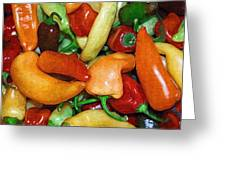 Rainbow Peppers Greeting Card