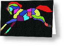Rainbow Pony Greeting Card