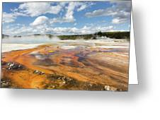 Rainbow Pool In Yellowstone National Park Greeting Card